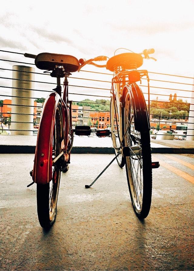 Cykler med lygter