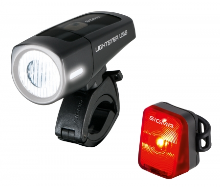 sigma lightster nugget cykellygtesaet usb opladelig 4918640 - Sigma Lightster/Nugget - Cykellygtesæt  - USB opladelig
