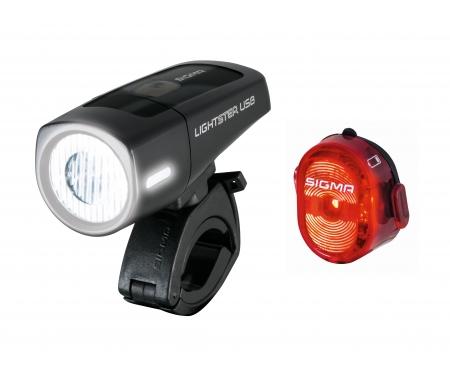 sigma lightster nugget ii cykellygtesaet usb opladelig 4918650 - Lygtesæt: Forlygte + Baglygte til din cykel