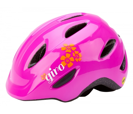 cykelhjelm giro scamp mips boernehjelm pink blomst PI0670681XX - Cykelhjelm Giro Scamp MIPS børnehjelm - Pink blomst