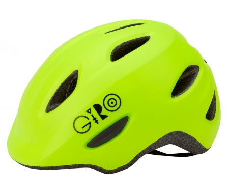giro scamp boernecykelhjelm mat lime LI0670679XX - Giro Scamp børnecykelhjelm - Mat lime
