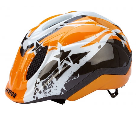 levior cykelhjelm primo orange stars OS45012X01 - Levior cykelhjelm Primo - Orange Stars