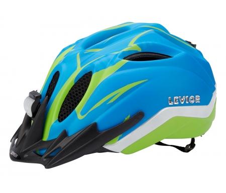 levior cykelhjelm primo refleks str 52 58 cm blaa groen matt 45014001 - Levior cykelhjelm Primo Refleks Str. 52-58 cm - Blå-Grøn-Matt