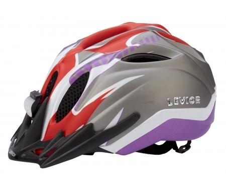 levior cykelhjelm primo refleks str 52 58 cm roed violet matt 45014201 - Levior cykelhjelm Primo Refleks Str. 52-58 cm - Rød-Violet-Matt